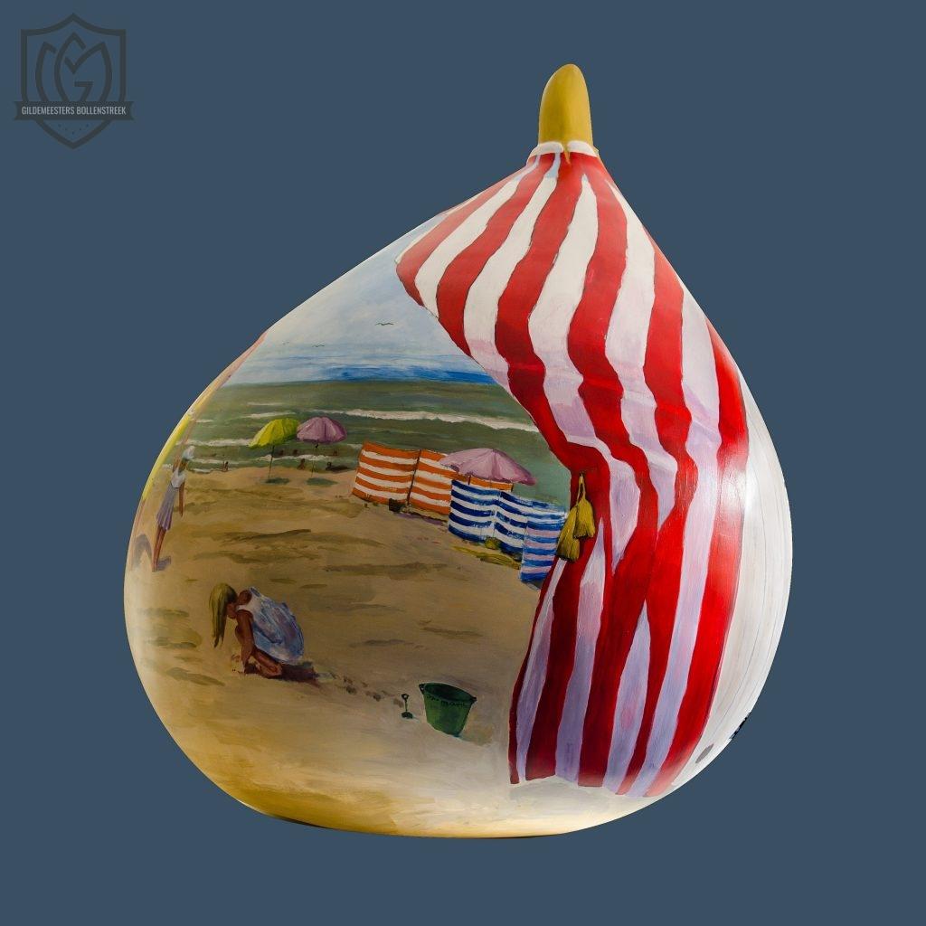 Reuzenbol 'Nostalgisch strandhuisje' - Joyce van Caspel
