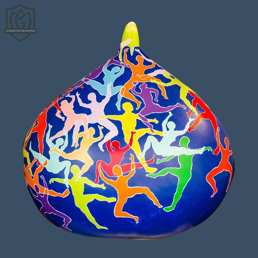 Reuzenbol 'Multicolored climbers' - Paul van den Aardweg