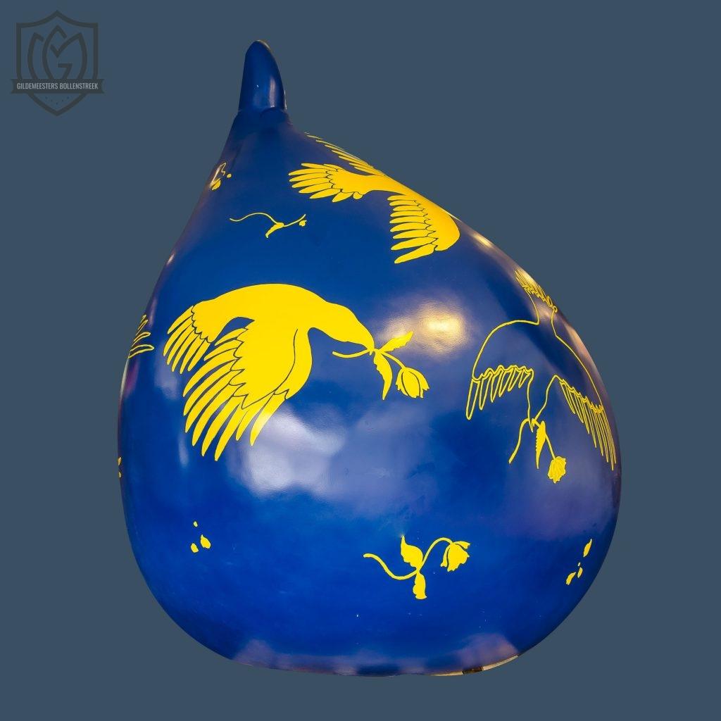 Reuzenbol 'Blauw/Geel' - Rik Smits