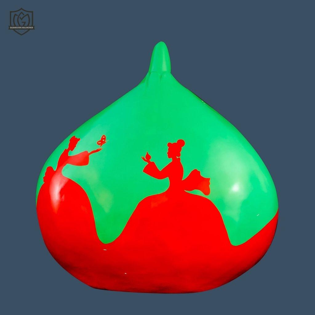 Reuzenbol 'Groen/Rood' - Rik Smits