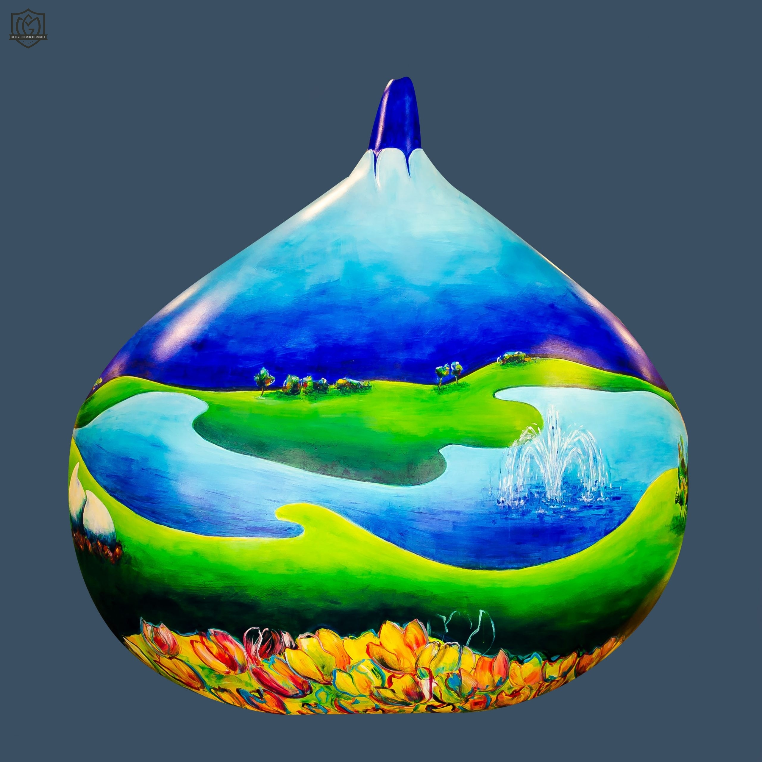 Reuzenbol 'rondje vijver' - annelies witjens