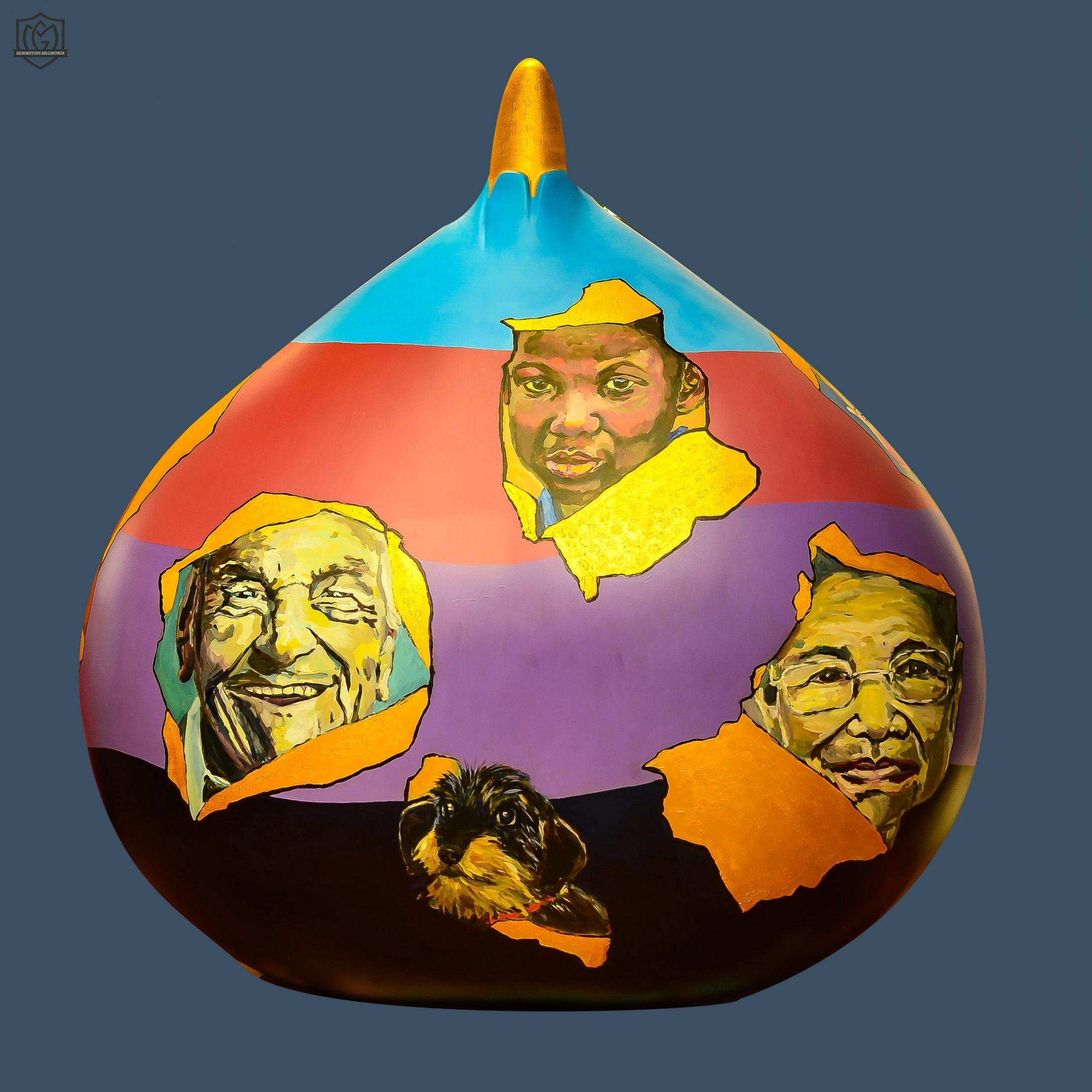 Reuzenbol 'People around the world' - Nanette Heijnen